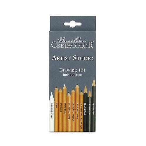 Cretacolor Artist Studio Drawing 101 - Set of 11