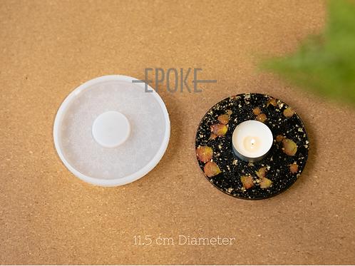 EPOKE Round Tealight Silicone Mould - Engraved
