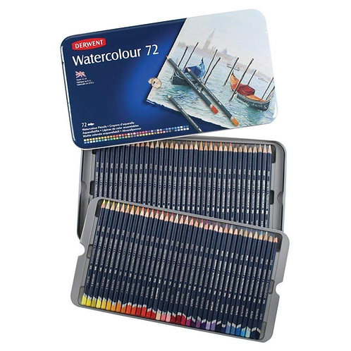 Derwent Watercolour Pencils Tin - Set of 72