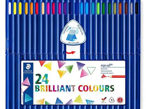 Staedtler Ergosoft Triangular Colour Pencils Set of 24