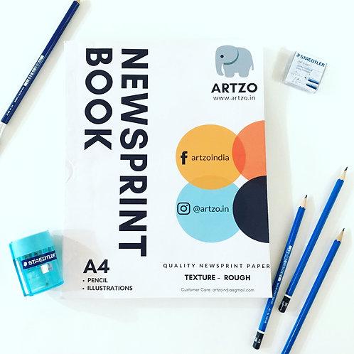 Artzo Newsprint Sketch Book - A4 (Rough Texture)