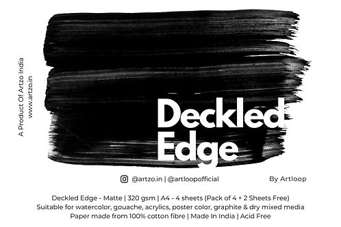 Deckled Edge by Artloop A4 - Matte