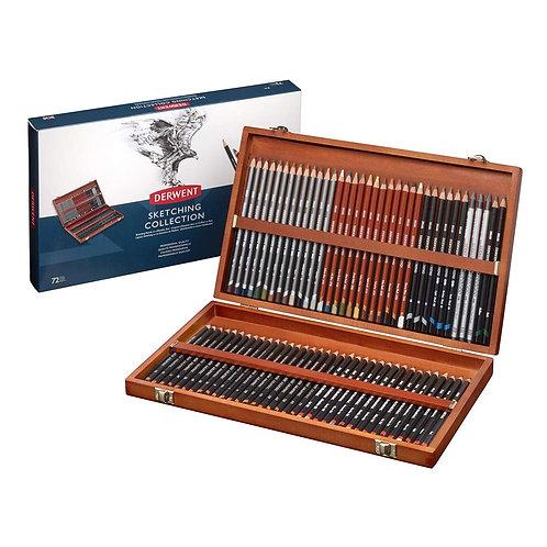 Derwent Sketching Wooden Box - Set of 72