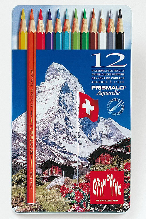 Caran Dache Prismalo Aquarelle Colour Pencil - Set of 12