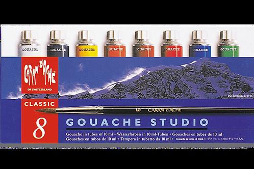 Caran Dache Paint Gouache Studio10ml - Set of 8