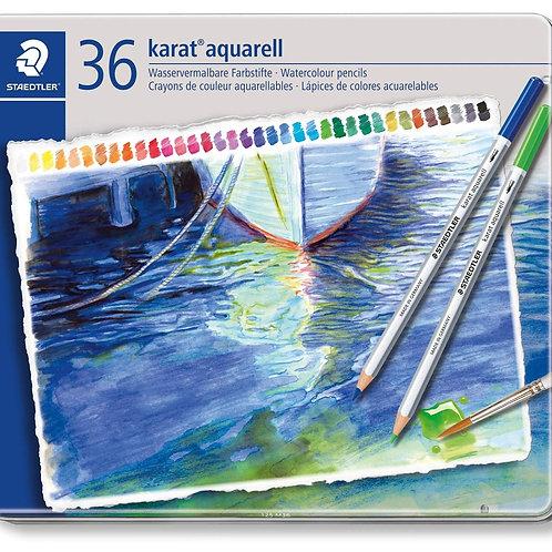 Staedtler Karat Aquarell Premium Watercolour Pencils - Set Of 36 Colors