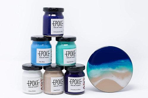 Epoke Art Resin Pigments Ocean Effect Kit - Combo of 6