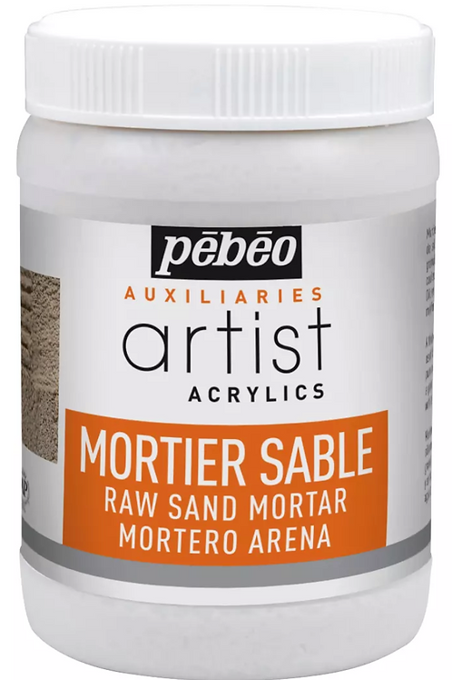 Pebeo Extra Fine Artist Acrylics Auxiliaries - Raw Sand Mortar - 250ml