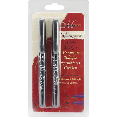 Manuscript MM652 CalliCreative Markers 2.5 mm and 4.8 mm - Black
