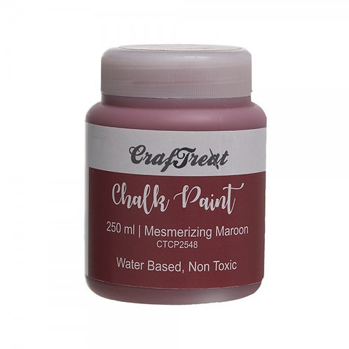 CrafTreat Chalk Paint 250ml - Mesmerizing Maroon