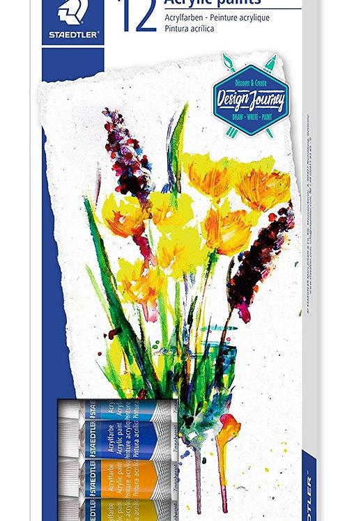 Staedtler Karat Acrylic Paint Colours Set - Pack of 12