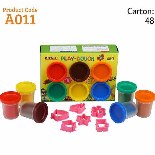 Khyati Play Dough Dark Colours - 300 grams