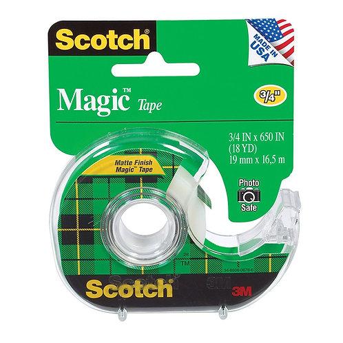 3M Scotch Magic Transparent Tape with Handheld Dispenser - 25 ft (7.6 m) Length