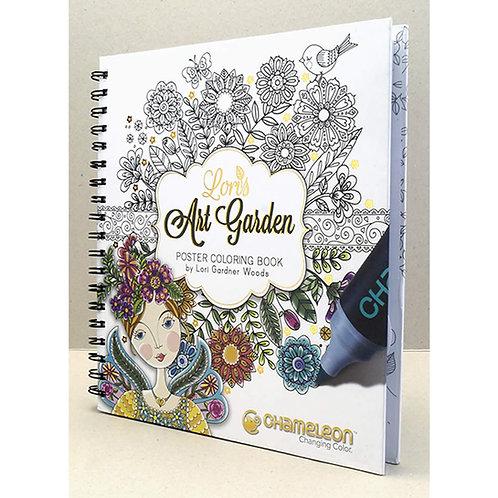 Chameleon Lori's Art Garden Adult Colouring Book