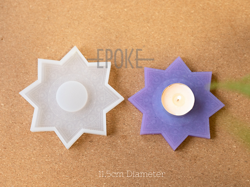 Epoke Star Tealight Silicone Mould - Engraved