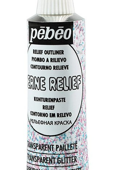 Pebeo Vitrail Cerne Relief Outliner - 20ml Tube - Sparkle Transparent
