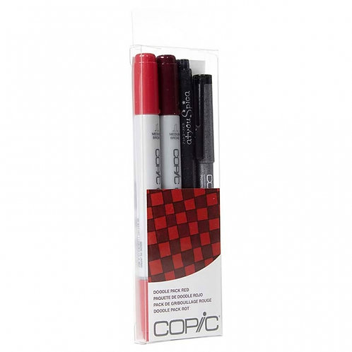 Copic Ciao Doodle - Red Set of 4