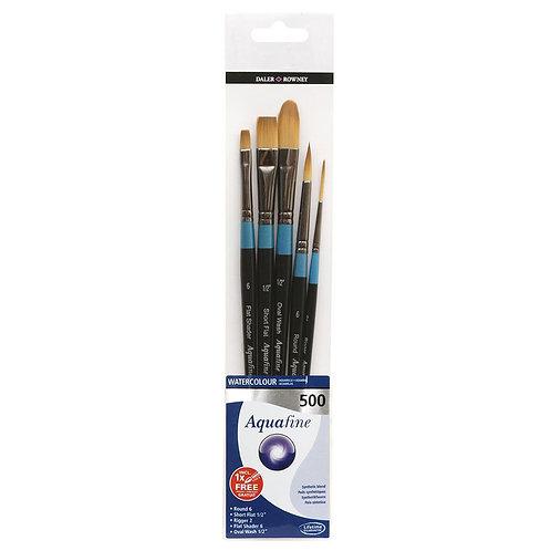 Daler Rowney Aquafine Brush Wallet 400 - Set of 5