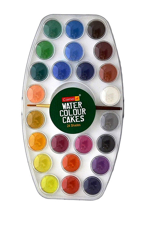 Camel Water Colours Cake Set 24 shades (for Students)