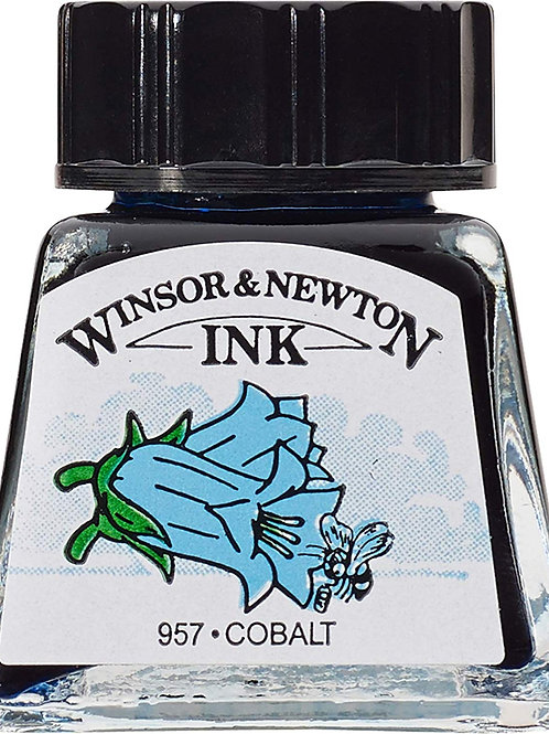 Winsor & Newton Drawing Ink Bottle Cobalt - 14ml & 30ml