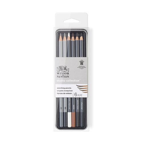 Winsor & Newton Studio Collection Sketching Pencil - Set of 6