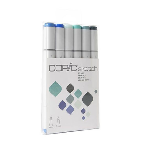 Copic Sketch Sea & Sky - Set of 6