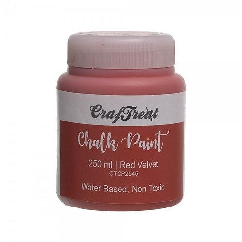 CrafTreat Chalk Paint 250ml - Red Velvet