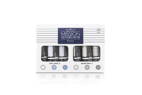 Mijello Mission White Class 15ml Warm Grey and Cool Grey - Set of 6
