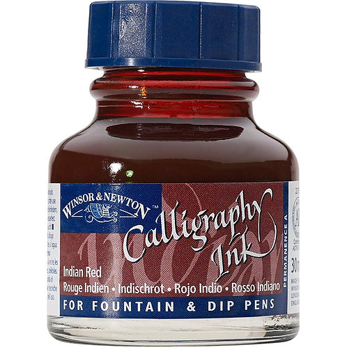 Winsor & Newton Calligraphy Ink Bottle 30 ml - Indian Red