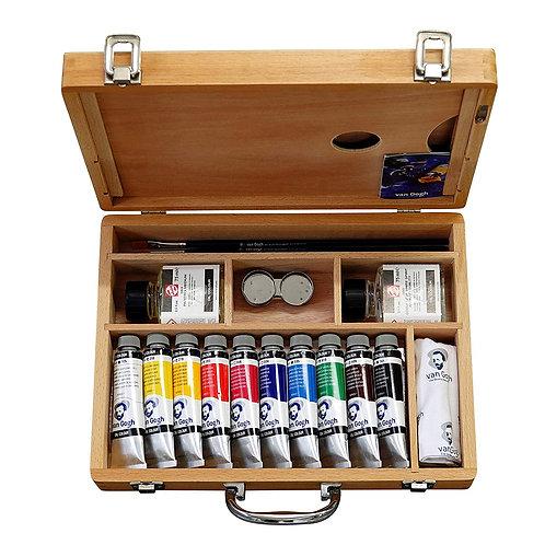 Royal Talens Van Gogh Oil Colour Art Set in Premium Wooden Case