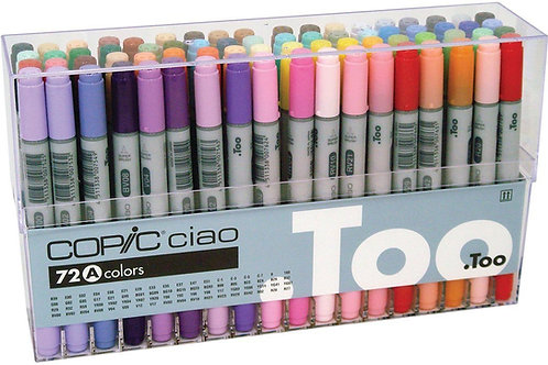 Copic Ciao Marker Set A - Set of 72 Colours