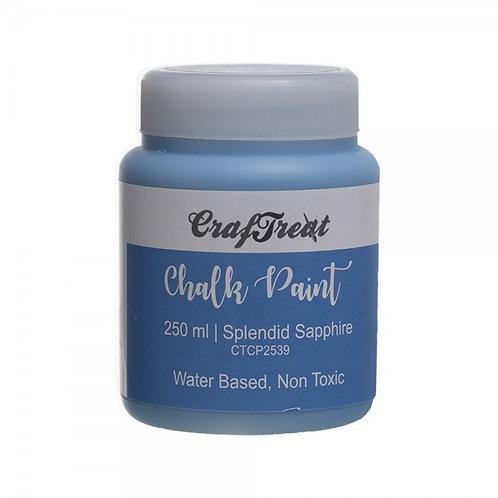 CrafTreat Chalk Paint 250ml - Splendid Sapphire