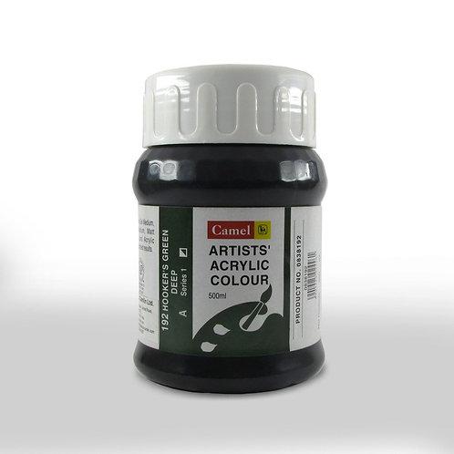 Camlin Kokuyo Artist Acrylic 500ml - Hooker's Green Deep