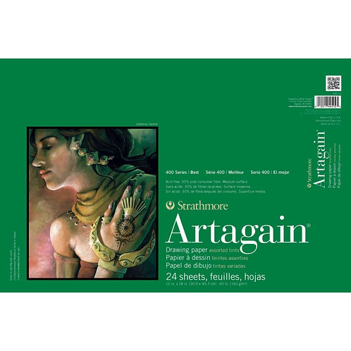Strathmore 400 Series Artagain 12''x18'' 6 Assorted Tints 160 GSM - 24 Sheets