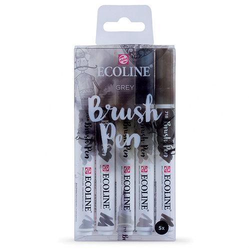 Royal Talens Ecoline Grey Brushpen - Set of 15
