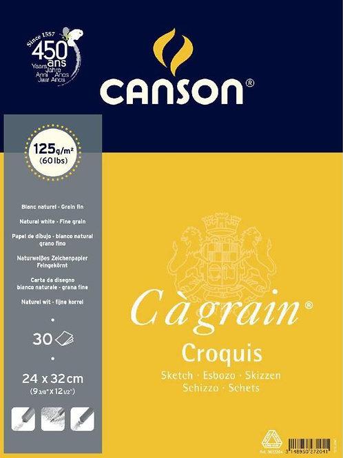 Canson C'a Grain Croquis 125 GSM 24 x 32 cm - A4