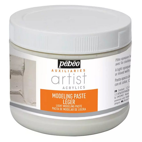 Pebeo Extra Fine Artist Acrylics Auxiliaries - Light Modeling Paste - 500ml