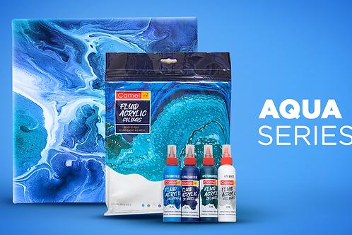 Camel Camlin Fluid Acrylic Colours - Aqua Shades Kit