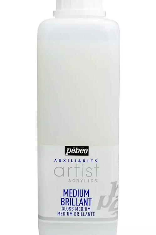 Pebeo Extra Fine Artist Acrylics Auxiliaries - Medium Brilliant - 1000ml bottle