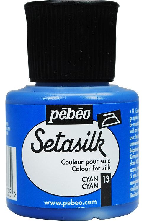Pebeo Setasilk 45ml - Cyan