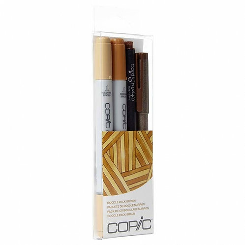 Copic Ciao Doodle - Brown Set of 4