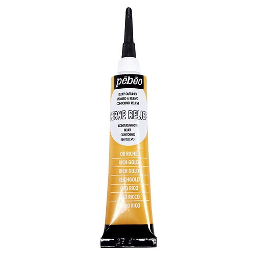 Pebeo Vitrail Cerne Relief Outliner - 20ml Tube - Rich Gold