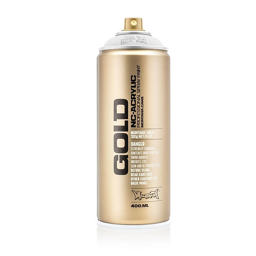 Montana Gold Fluorescent 400ml Spray Paint Disco White - F9100