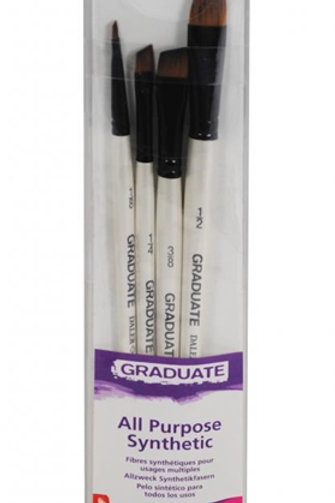 Daler-Rowney Graduate Synthetic Shader set - Pack of 4