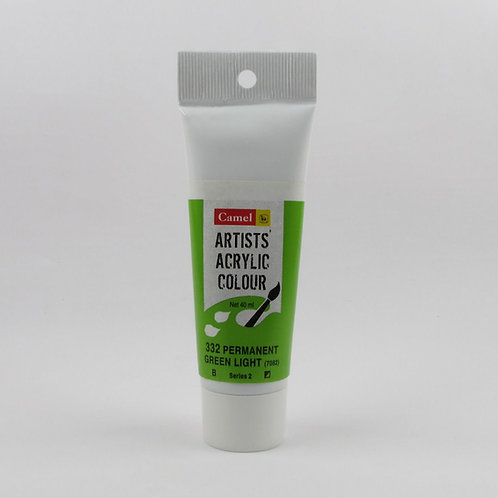 Camlin Kokuyo Artist Acrylic 40ml - Permanent Green Light