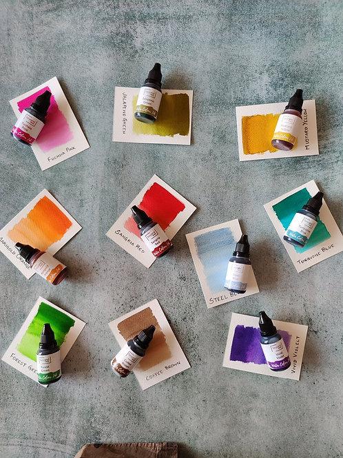 Beyond Inks Watercolor Inks Set of 10 Inks - Pack 1