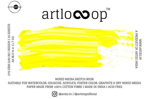 Artloop Mixed Media Sketch Book 270 gsm - A4 Rough
