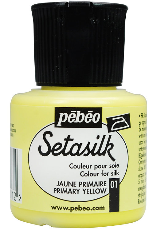 Pebeo Setasilk 45ml - Primary Yellow