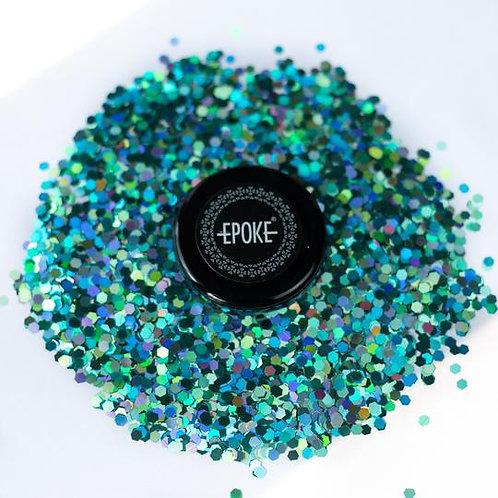 Epoke Teal Holographic Glitter (G16) Chunky - 15g