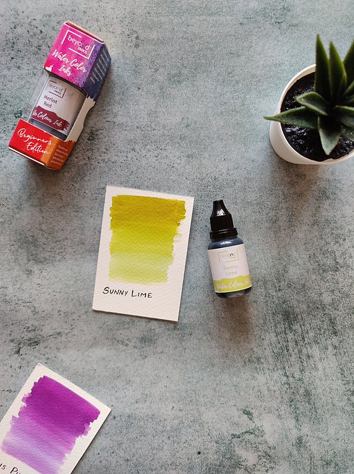 Beyond Inks Watercolor Ink 20ml - Sunny Lime